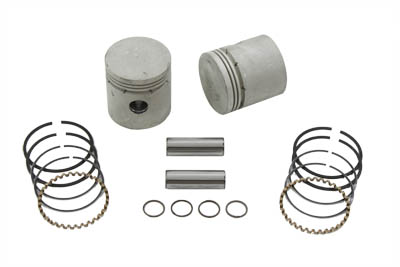 .020 Piston Kit with Thin Rings for 1950-1973 Big Twin