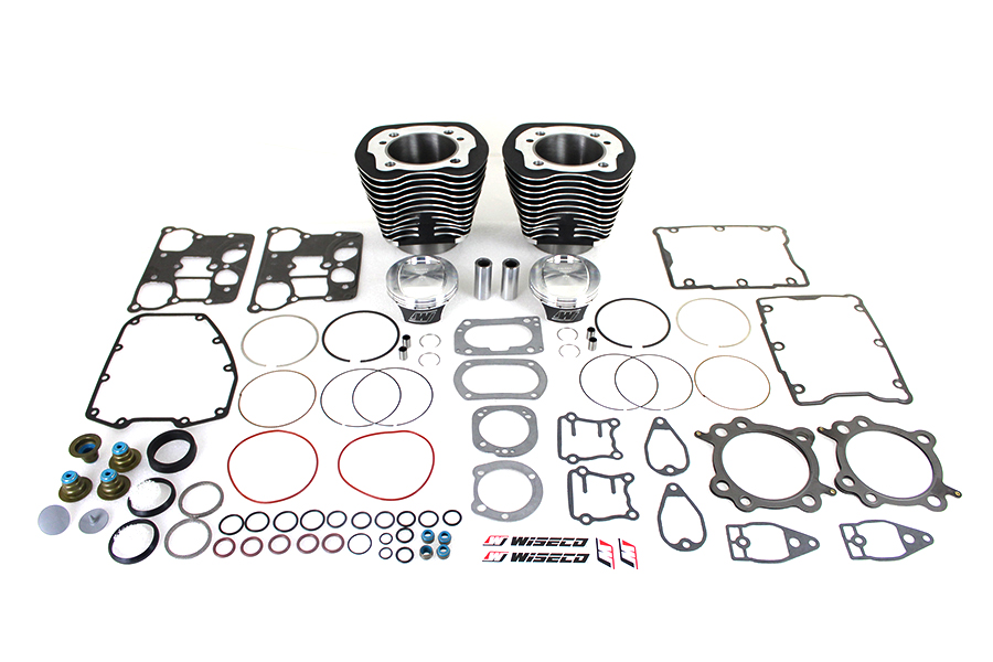 103 inch Twin Cam Black Cylinder and Piston Kit for 2007-2010 BT