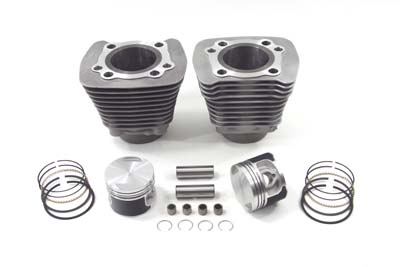 Replica 883cc Cylinder & Piston Kit Silver for Harley XL 1986-03 EVO