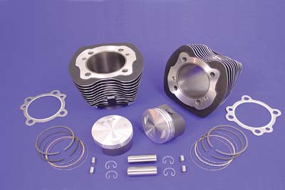 "95"" Big Bore Twin Cam Cylinder & Piston Kit Black for 2000-06 Big Twin"