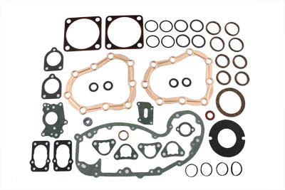 Complete James Engine Gasket Kit for UL 1936-1948 Harley 74 & 80 in.
