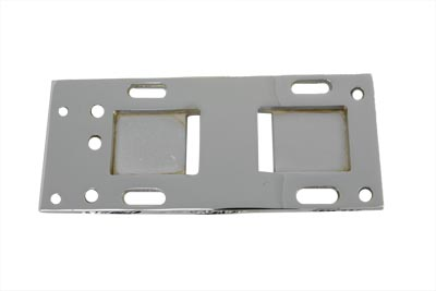 Chrome Transmission Mounting Plate for 4-Speed in 5-Speed Frame