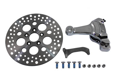 "Chrome 11.5"" Right Caliper Kit w/ 3/4"" Axle for Rigid Big Twin"
