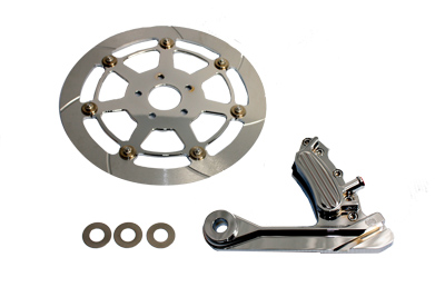 "Chrome 1987-99 Softail Rear 6 Piston Caliper & 12-5/8"" Disc Kit"