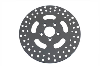 Polished Stainless Steel Drilled Rear Brake Rotor for 1992-1999