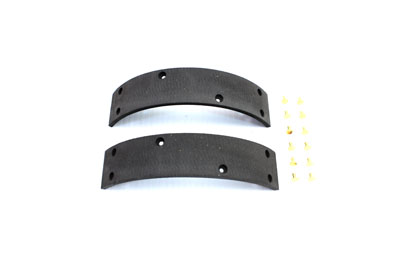 Front Brake Shoe Linings with Rivets for 1964-1972 Big Twin & XL