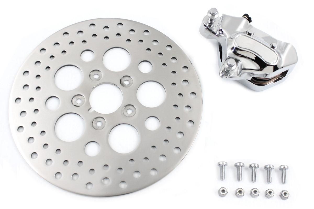 Chrome 11.5 inch Front Caliper & Rotor Kit for 1984-1999 Big Twin