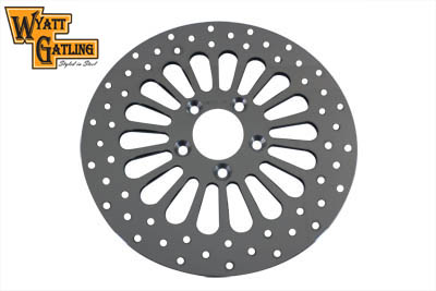 Polished 18 Spoke Wyatt Gatling Rear Rotors for 1979-1999 Big Twin