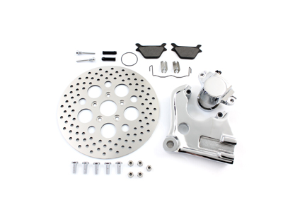 Chrome Rear Caliper and 11-1/2 inch Disc Kit for FXD 1991-1999