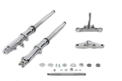 41mm Wide Glide Fork Kit w/ Chrome Sliders for XL 1982-UP Harley