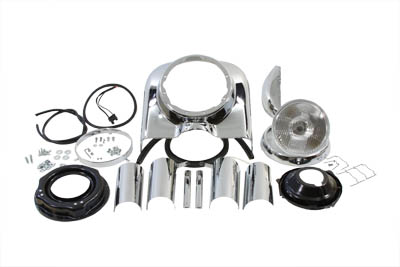 7 inch Chrome Headlamp Cowl Kit for 1987-1992 FLHS