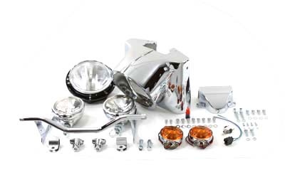 "7"" Chrome Headlamp Cowl Kit for Harley FL 1960-1984"