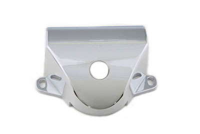 Chrome Handlebar Clamp Cover w/ Damper Hole for 1960-1979 FLH