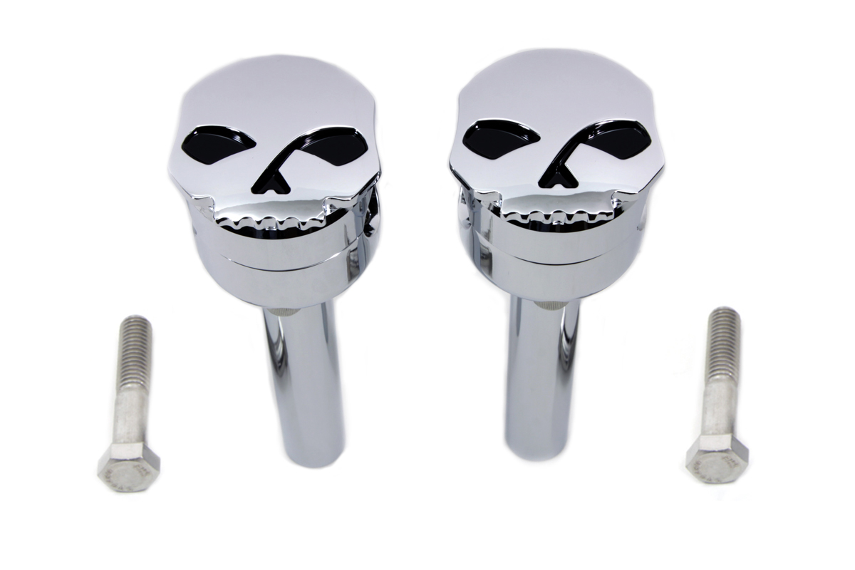 "Chrome Skull 6"" Riser Set"