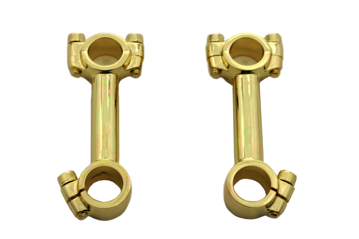 "4"" Dog Bone Riser Set Polished Brass"