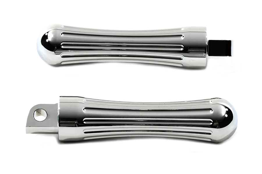 Chrome BILLET Batique Male Mount Footpegs for Harley Customs