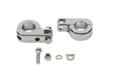 Billet Footpeg Mount Set for 1-1/4 inch Engine Bars