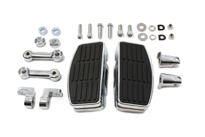Chrome Adjustable Mini Passenger Floorboard Kit for 1984-2009 Softail