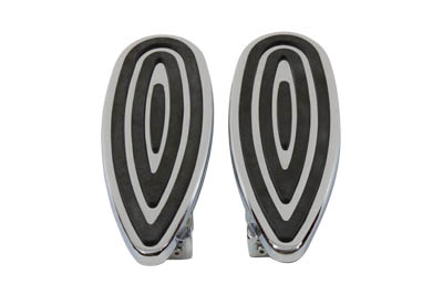 Chrome Billet Teardrop Footboard Set for Harley FLT FLST