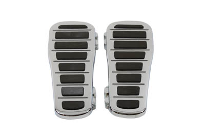 Chrome Billet Big Foot Footboard Set for Harley FLT FLST