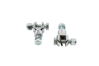 Chrome Footpeg Mount 1 inch Yoke for Harley & Customs