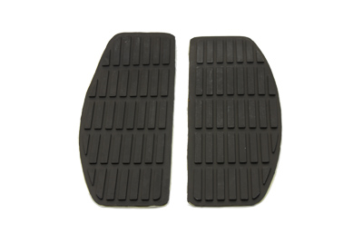 Black Rubber Floorboards Mat for 1966-up Harley Big Twin