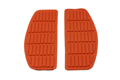 Footboard Orange Mat Set for 1966-1990 Big Twins
