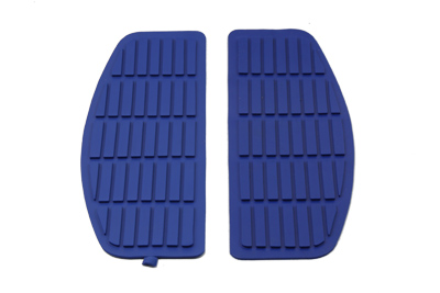 Blue Rubber Floorboards Mat for 1966-up Harley Big Twin