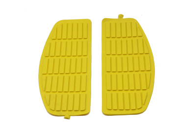 Yellow Rubber Floorboards Mat for 1966-up Harley Big Twin