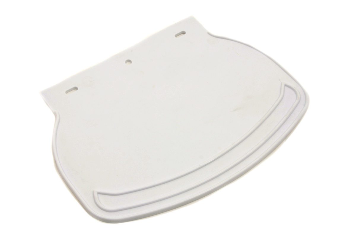 Mud Flap Rubber White Plain for front and rear fenders