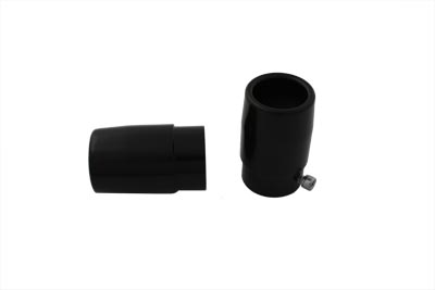 Black 1 3/4 in. Tips for Straight Pipe Exhausts Harley & Customs