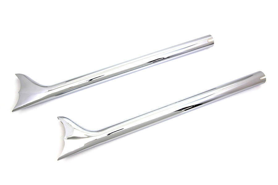 "Chrome 32"" Fishtail Straight Muffler Set for 1-3/4"" Pipes"