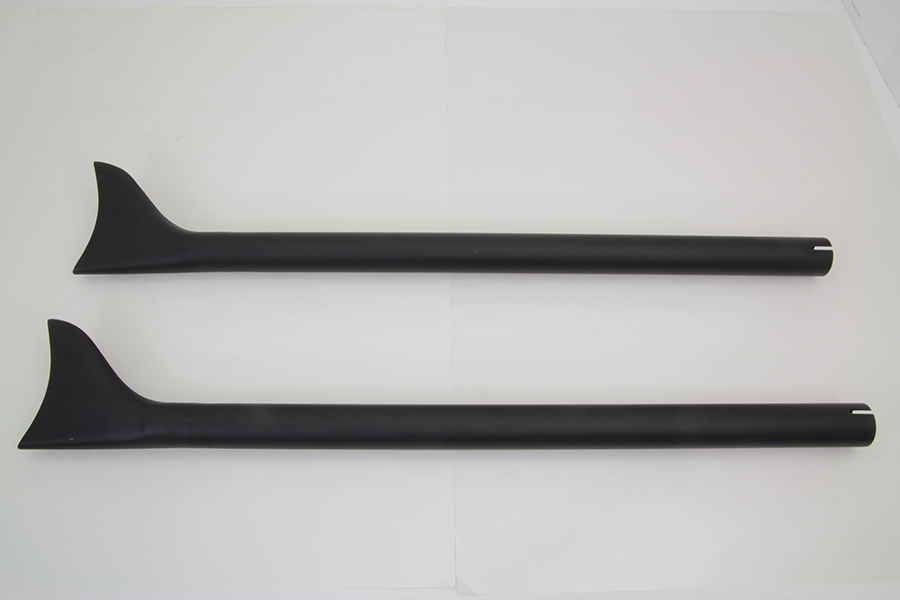 "Black Straight 36"" Fishtail Extension Set for 1-3/4"" Pipes"
