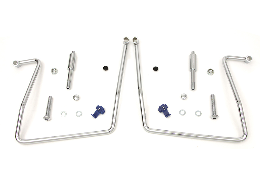 Chrome Saddlebag Support Kit for FXDWG & FXD 1991-2007