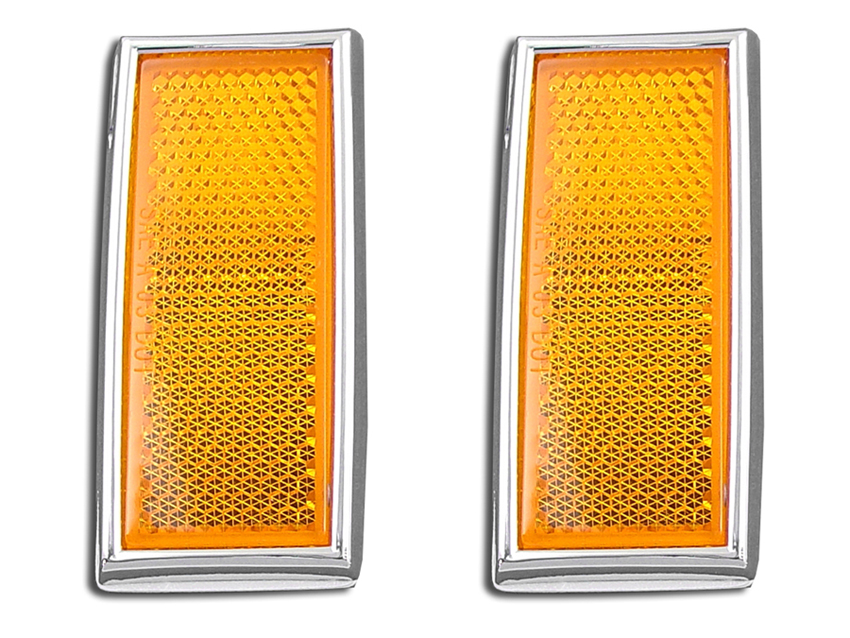 Front Amber Reflector Set Harley 1972-UP Big Twin