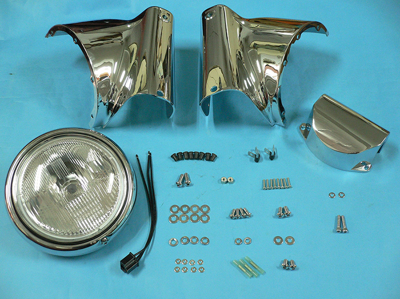 Chrome Cowl Assembly Lamp Kit w/Riser Cover for 1986-up Softail