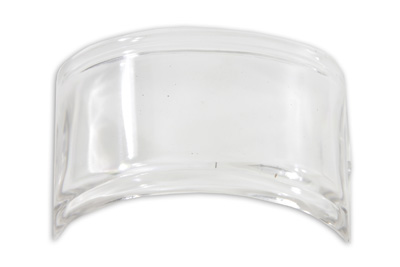 Tail Lamp Lens Top Beehive Style Plastic Clear