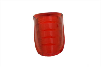 Tail Lamp Lens Beehive Style Plastic Red for Harley 1939-46 Big Twins