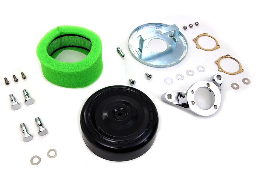"7"" Black Round Air Cleaner Kit for 1999-2007 Big Twins"