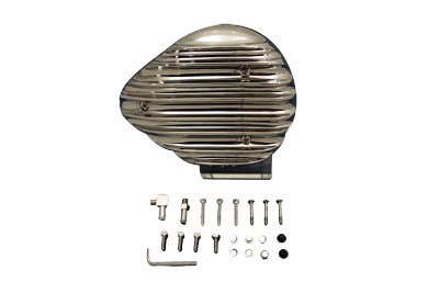 Chrome Finned Tear Drop Air Cleaner for Pre-1987 Harley