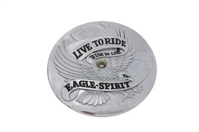 Chrome Eagle Spirit Air Cleaner Insert for 1984-99 Harley Big Twins
