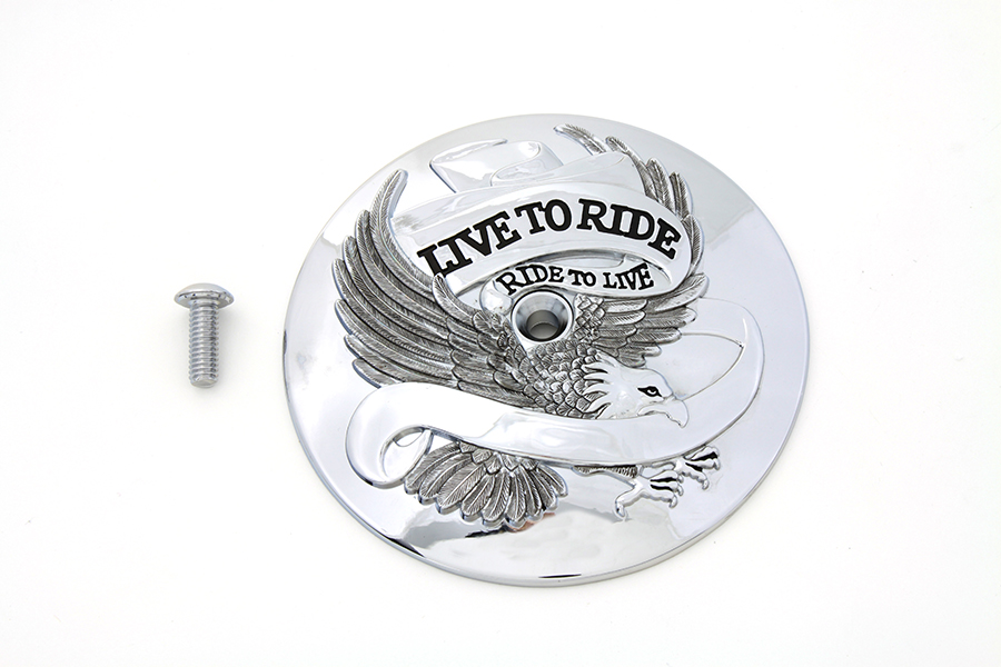Chrome Eagle Spirit Air Cleaner Insert for 1999-up Twin Cam 88