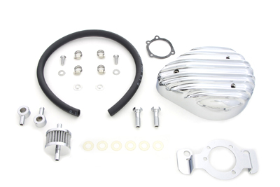 Tear Drop Finned Chrome Air Cleaner Kit for XL 1991-UP Harley