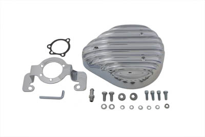 Chrome Finned Tear Drop Air Cleaner Kit for XL 1985-87 Harley