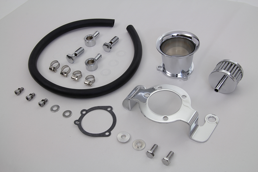 "Chrome 2-1/2"" Velocity Stack Kit for 1993-1999 Big Twins"