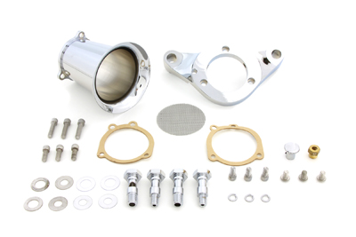 Chrome 4 in. Velocity Stack Kit for Harley w/ S&S E & G Carbs
