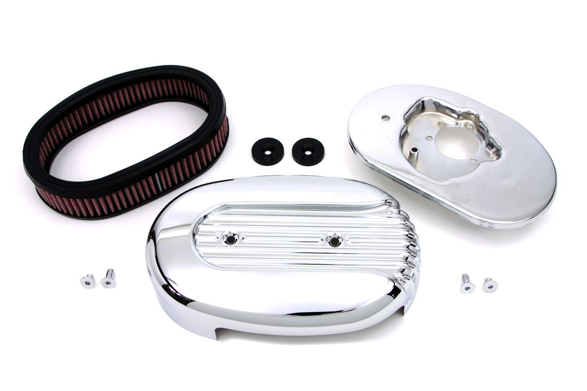 Chrome XL 1971-1986 Sportsters Oval Air Cleaner Kit