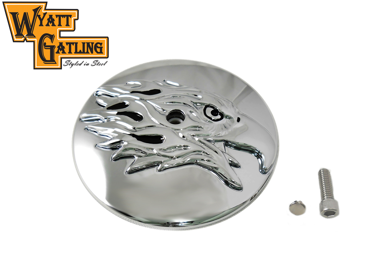Chrome Round Eagle Air Cleaner Cover Insert for 1999-UP BT
