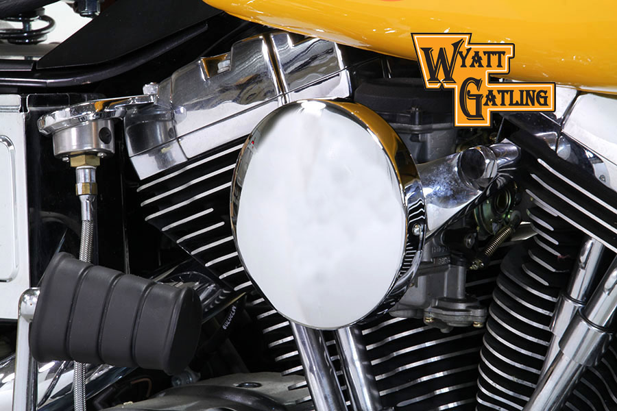 Chrome Baby Moon Style FXST & FXD 1993-2007 Air Cleaner Assembly