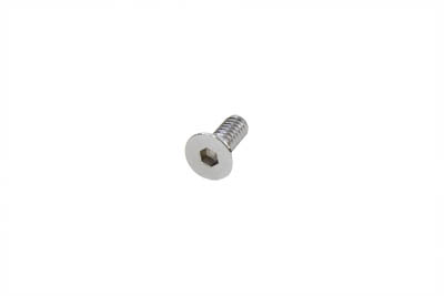 "Allen Flat Head Screws Chrome 1/4 x 1"" Fine - 10 Pack"